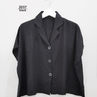LD130 Kemeja Jumbo Wanita XXXL Baju Hem Oversize Atasan Bigsize