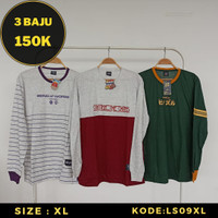 PROMO Kaos Distro Lengan Panjang Pria - Baju Streetwear Trend Murah XL