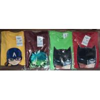 Baju Anak anak, Kaos LED Superhero,size 2 - 2, Hijau