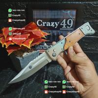 Pisau Lipat Survival AK 47 Sedang / Pisau Otomatis / Survival Kit