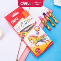 Deli EC20200 School Crayon/Krayon-Oil Pastel Rich Color 12C