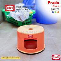 PRADO Kursi Jongkok Plastik / Bangku Bulat Anak   SHINPO SIP 176