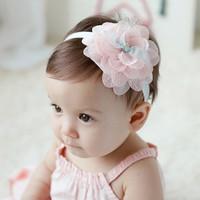 Bandana bayi bunga bando korea anak balita cantik pesta pita renda