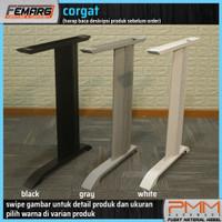kaki meja FEMARG corgat   office table base meja kantor besi abu abu