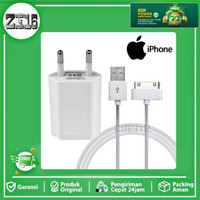 Original Charger iPhone 4 4s 4G 3Gs Ipad 1 2 3 Ipod itoch apple - Putih