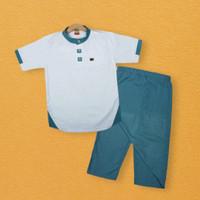 NKH ALL | Baju Koko Muslim Anak Sarcel Sarung Celana Cowok Branded - NKH02, S