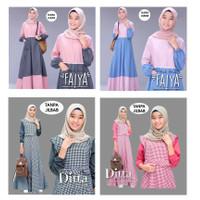 baju muslim gamis anak remaja perempuan terbaru kekinian 12 - 15 tahun