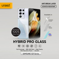 UNEED Hybrid Pro Anti Break Screen Protector Samsung S21 Full Cover