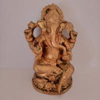 Hiasan Pajangan Patung Ganesha Mini Gold