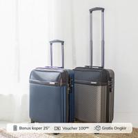 [Number8] AA MILAN|Koper Kabin 20 inch|TSA|USB Charging Port - Grey