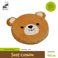 Bantal Duduk Bulat Bentuk Beruang diameter 45cm