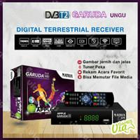 Set Top Box STB Matrix Garuda Receiver TV Digital Ungu Antena UHF