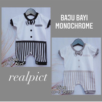 Baju Bayi Monokrom Monochrome Baby Jumper putih hitam abu lucu murah