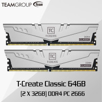 Team T-Create 64GB 32GBx2 DDR4 2666 PC4-21300