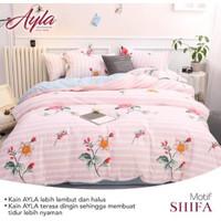 Bedcover Sprei Katun AYLA Motif SHIFA Ukuran 140x200-200x200cm