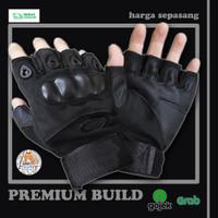 Sarung Tangan Motor Setengah Jari Half Finger Anti Slip Premium Import