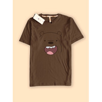 Baju Kaos premium muka grizzly face bare bears beruang senyum