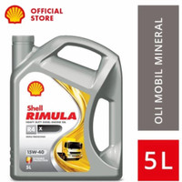 Oli Shell RIMULA R4 SAE 15W/40 Galon 5 Liter Original