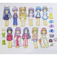 Bongkar pasang baju kertas magnet Dress up doll busy page Anime