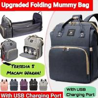 Tas bayi backpack multifungsi expand tempat tidur bayi diaper bag