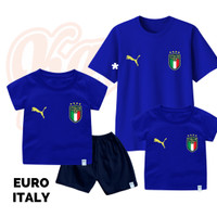 Setelan Baju Kaos Sepak Bola Euro Timnas Italy Bayi Sampai Remaja