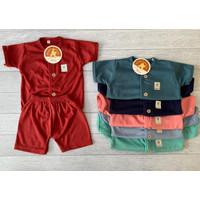 Baju Bayi Setelan Nia Premium Setelan Baju Bayi Warna Polos Lengan Pdk