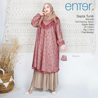 New Sapta Tunik Brokat Jumbo Big Size LD 136cm Baju Pesta Cantik Mewah