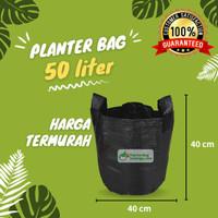Planter Bag 50 Liter Hitam 2 Handle Pot Tanaman Tabulampot Polybag