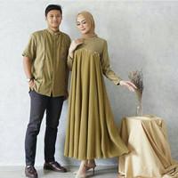 Baju Gamis Couple Najwa Gamis Pasangan Muslim Najwa Set Pria Wanita