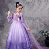 Dress Frozen 2 Elsa Lilac / Baju Frozen 2 premium Lilac import
