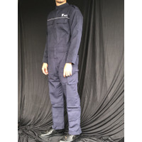 jumpsuit overall wearpack mens patch pria baju montir thrift navy blue
