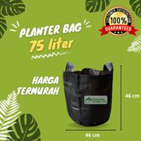 Planter Bag 75 Liter Hitam 2 Handle Pot Tanaman Tabulampot Polybag
