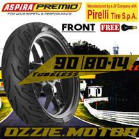 ASPIRA PREMIO SPORTIVO 90 80 - 14 BAN MOTOR MATIK MIO BEAT TUBELESS
