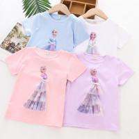 BF02 Baju Anak Princess Elsa Frozen II Kaos Atas Pakaian Perempuan
