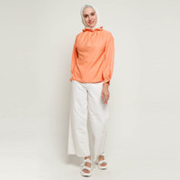 Atasan Muslim Wanita Covering Amoruso Victorian Top E - Orange