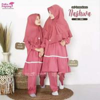 Setelan Baju Gamis Perempuan Syar'i Busana Muslim Anak Cewe 1-12 Tahun - Pink, 2