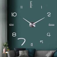 3D DIY Giant Wall Clock Jam Dinding Unik Besar Diameter 60CM Minimalis