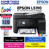 Printer Epson L5190 / Wi-Fi /Ink Tank with ADF / Print / Scan / Copy