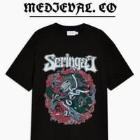 Kaos SERINGAI - TSHIRT BAND MUSIK - BAJU METAL - SERIGALA MILITIA
