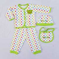 [ N E W ] Baby Set Newborn Setelan Bayi Piyama Polkadot - Hijau