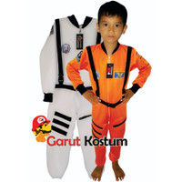 Kostum astronot setelan costume baju putih karnaval