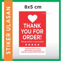 Sticker ULASAN - Stiker Thank You For Order (stiker packing olshop)