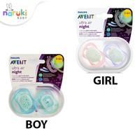 Philips Avent Ultra Air Night Pacifier 0-6m Empeng Bayi Avent Newborn