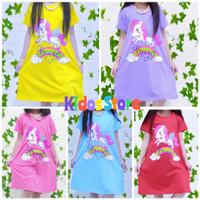 Dress/daster anak perempuan 5-10 tahun Unicorn Magic/baju anak harian