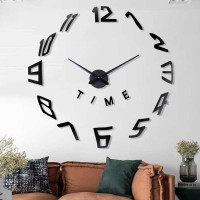 3D DIY Giant Wall Clock Jam Dinding Besar unik Silent Diameter 60 CM