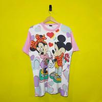 MICKEY & MINNIE vintage all over (full) print t-shirt (KAOS KARTUN)