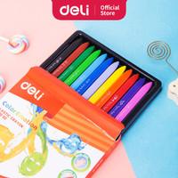 Deli EC20000 School Crayon/Krayon - Plastic Crayon Triangle 12C