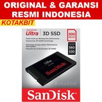 Sandisk SSD 3D Ultra 500gb 500 gb ori original garansi resmi Indonesia