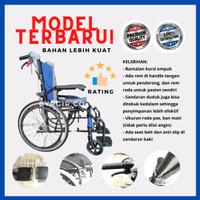 Kursi Roda Lipat Travel Traveling Wheelchair Foldable Wheel Chair - Velg Jaring