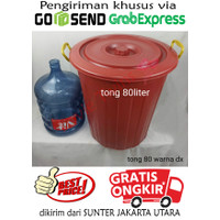 TONG 80 Ember Plastik Bak Air 80L Besar Tong Air Jumbo 80 LITER Murah - Merah